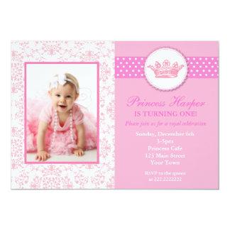 Princesa Photo Birthday Invitations Invitación 12,7 X 17,8 Cm