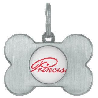 Princesa Placas De Nombre De Mascota