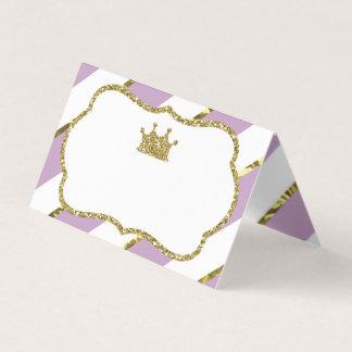 Princesa Place Cards, tarjetas de la comida, falso