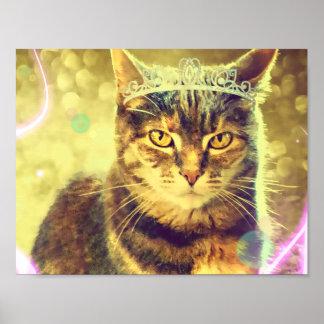 Princesa Poster del gato de Tabby del calicó