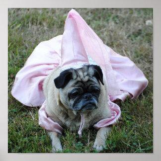 Princesa Print del perro del barro amasado Póster