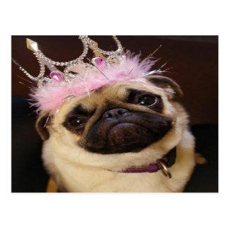 Princesa Pug Tarjetas Postales