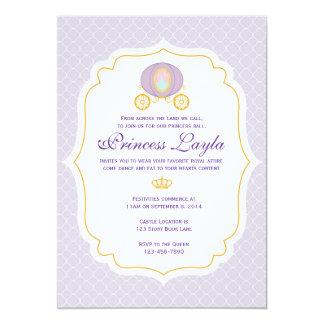 Princesa púrpura Birthday Invitation Invitación 12,7 X 17,8 Cm
