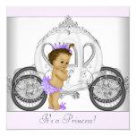 Princesa púrpura fiesta de bienvenida al bebé de comunicado personal
