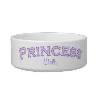 Princesa púrpura Pet Bowl Comedero Para Mascota