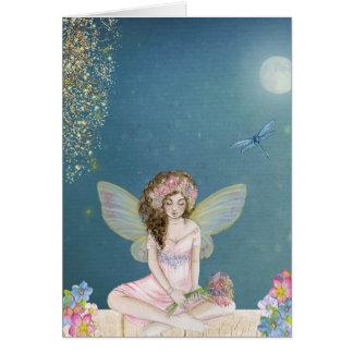 Princesa que se sienta tarjetas