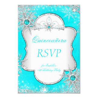 Princesa Quinceanera Aqua Blue Teal de RSVP Invitación 8,9 X 12,7 Cm