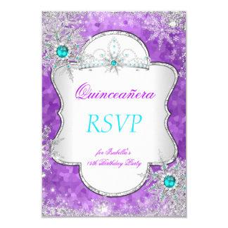 Princesa Quinceanera Purple Teal de RSVP Invitación 8,9 X 12,7 Cm