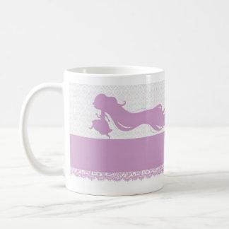 Princesa Rapunzel Mug Taza Básica Blanca