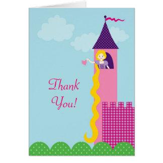 Princesa Rapunzel Thank You Card Tarjeta Pequeña