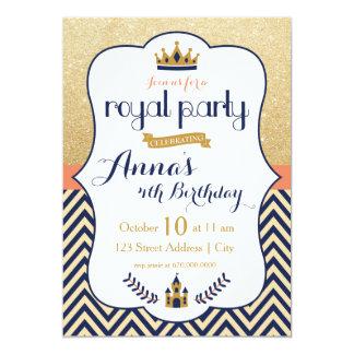 Princesa real Party Invitation Invitación 12,7 X 17,8 Cm