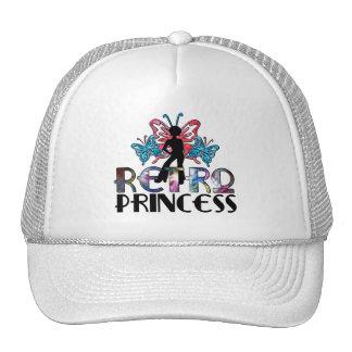 Princesa retra - hada de la mariposa del chica del gorras de camionero