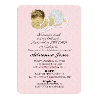 Princesa ROSADA 147 de las invitaciones de la Invitación 12,7 X 17,8 Cm