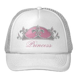 Princesa rosada Crown con el gorra de las señoras