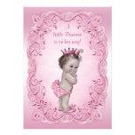 Princesa rosada fiesta de bienvenida al bebé del v invitación