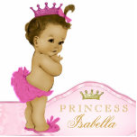 Princesa rosada fiesta de bienvenida al bebé escultura fotográfica