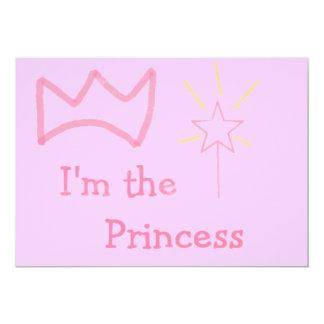 Princesa rosada invitación 12,7 x 17,8 cm