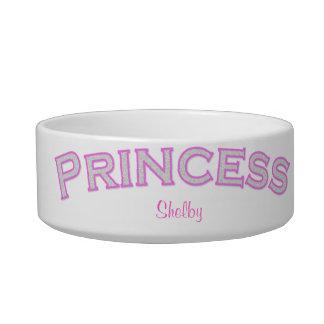 Princesa rosada Pet Bowl Comedero Para Mascota