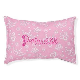 Princesa rosada Small Pet Bed Cama Para Perro Pequeño