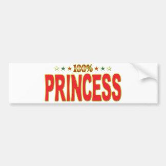 Princesa Star Tag Pegatina Para Coche