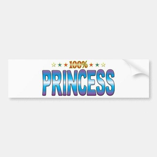 Princesa Star Tag v2 Pegatina De Parachoque