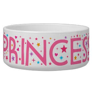 Princesa Stars y cuenco del alimento para animales Tazones Para Perrros