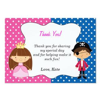 Princesa Thank You Card - chica del pirata Invitación 12,7 X 17,8 Cm