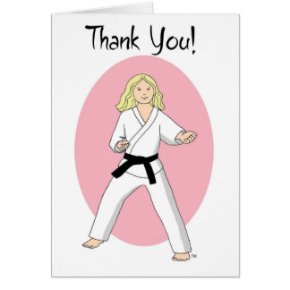 Princesa Thank You Cards del karate Tarjeta