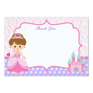Princesa Thank You Cards Invitación 8,9 X 12,7 Cm