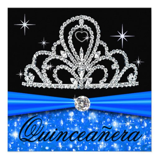 Princesa Tiara Bling de Quinceanera del negro azul Anuncio