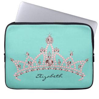 Princesa Tiara Crown Laptop Sleeve (aguamarina) Funda Para Ordenador