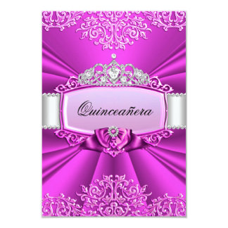 Princesa Tiara y invitación de Quinceanera del