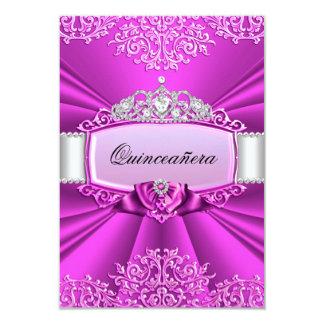 Princesa Tiara y invitación de Quinceanera del Invitación 8,9 X 12,7 Cm