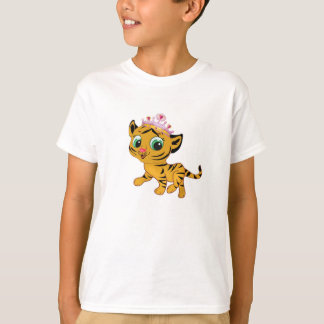 Princesa Tiger Tigress Girls T-shirt personaliza Camiseta