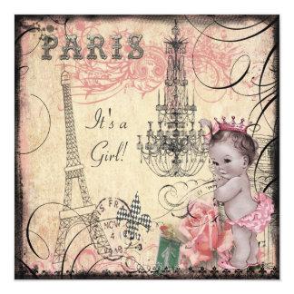 Princesa torre Eiffel y fiesta de bienvenida al Invitación 13,3 Cm X 13,3cm