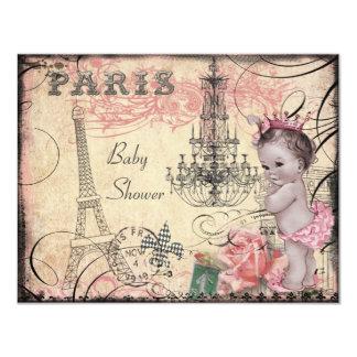Princesa torre Eiffel y fiesta de bienvenida al Invitación 10,8 X 13,9 Cm