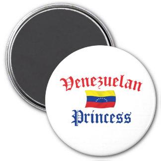 Princesa venezolana imán redondo 7 cm