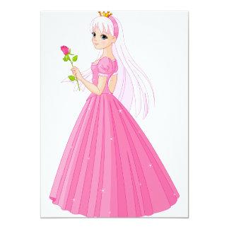 Princesa With A Rose Invitations Invitación 12,7 X 17,8 Cm