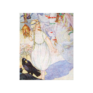 Princesa y cuervos rubios del chica del cuento de