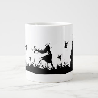 Princesa y taza de hadas del castillo