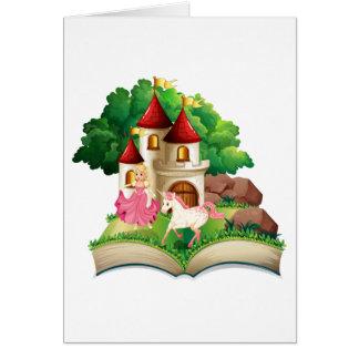 Princesa y unicornio tarjeta de felicitación
