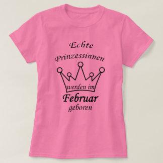 Princesas auténticas son parido en el febrero camiseta