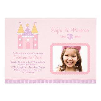 Princess Invitación de la Fiesta de Cumpleaños Custom Announcement