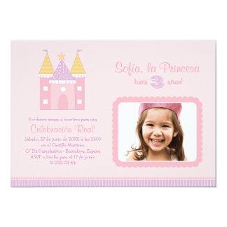 Princess Invitación de la Fiesta de Cumpleaños