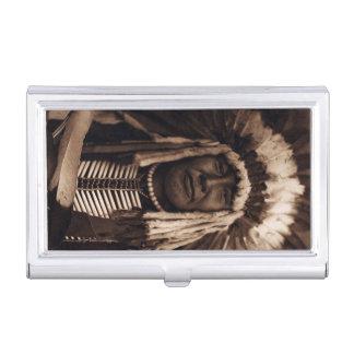 Principal Blackfoot amarillo Edward Curtis del Caja De Tarjetas De Presentación