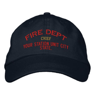 Principal gorra del bombero de Personalizable Gorros Bordados