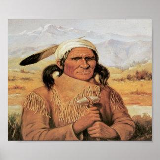 Principal poster del arte del vintage de Geronimo