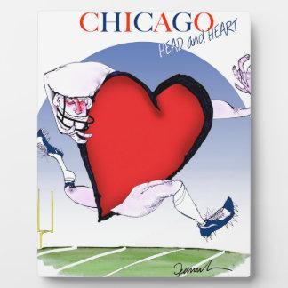 Principal y corazón, fernandes tony de Chicago Placa Expositora