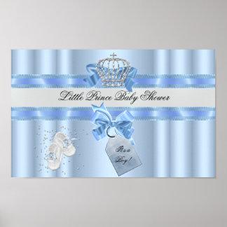 Príncipe azul Crown 3a del muchacho de la fiesta Póster