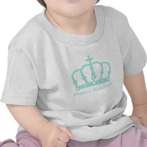Príncipe azul Crown con las joyas para los bebés Camiseta